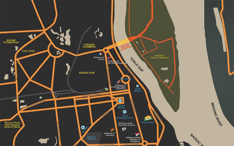 Sokha Phnom Penh Hotel's Map