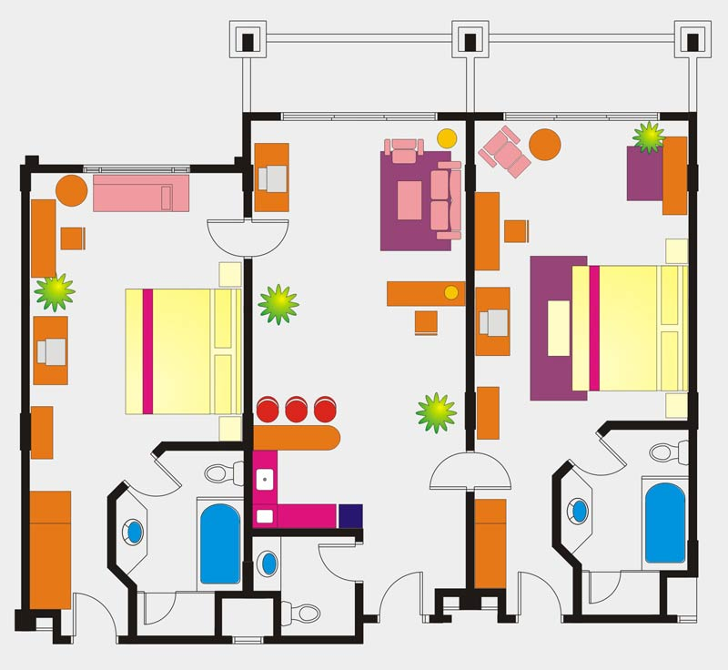 Executive Suite room floor Plan